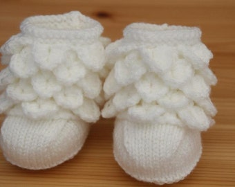 Christening bootees
