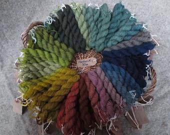 Naturally dyed herdwick wool yarn (fine 2 ply) in 30 metre skeins