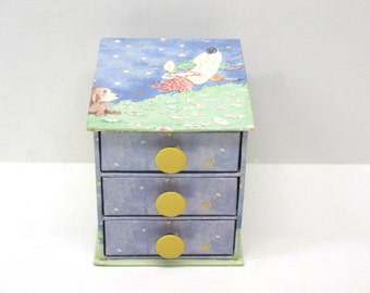 Jewelry Box Laura Ashley Hey Diddle Diddle Nursery Rhyme Trinket Box