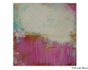 Art Abstract Painting Pink Gold Large Wall Art Acrylic Painting Modern Original Painting  Textured Artwork | By Maria Sa