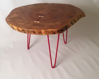 Maple coffee table, Hairpin Coffee Table, Industrial Furniture