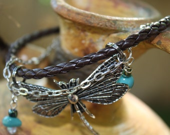 Dragon fly and leather