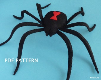 PDF pattern to make a felt spider.