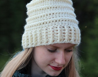 Crochet Pattern Pom Pom Hat Toque PDF: The Emily Toque