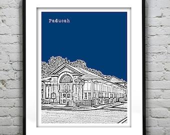 Paducah Kentucky Poster Art Print KY Version 2