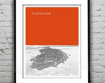 Puntarenas Skyline Poster Art Print Version 1