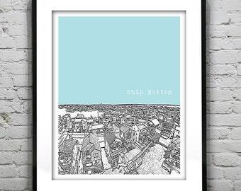Ship Bottom LBI New Jersey Shore Poster Print Art  NJ Skyline Long Beach Island Version 2