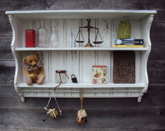 "Book shelf, kitchen shelf country house 93 x 63 x 24 ""Pattern"""