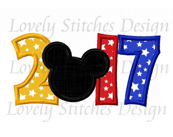2017 With Mickey Applique Machine Embroidery Design NO:0496
