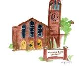 "Mississippi State Chapel of Memories - Starkville, MS 8 x 10"""
