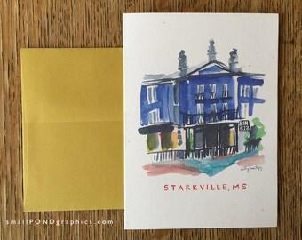 Bin 612 Restaurant Notecard - Downtown Starkville Mississippi - Single or Assorted Boxed Set
