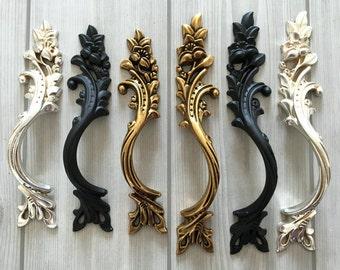 "3.1"" 3.75"" Cabinet Handles Drawer Pull Handles Dresser Pull Black Antique Silver Gold Brass Bronze Door Handle Pull Provincial Pair 79 96 mm"