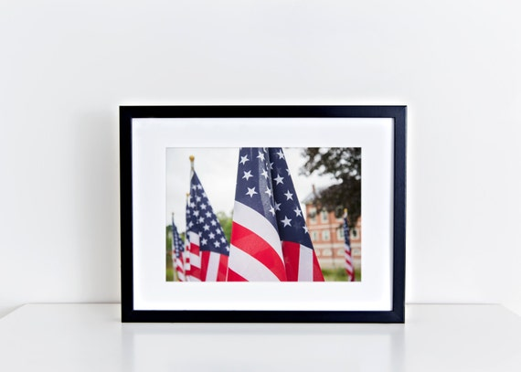 Stars and Stripes // american flag, usa, stars, stripes, newburyport field of honor, law enforcement, home decor, fine art print