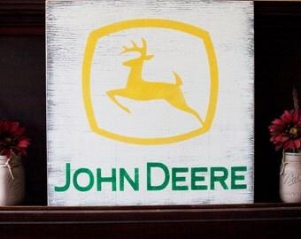 John Deere Wooden Sign
