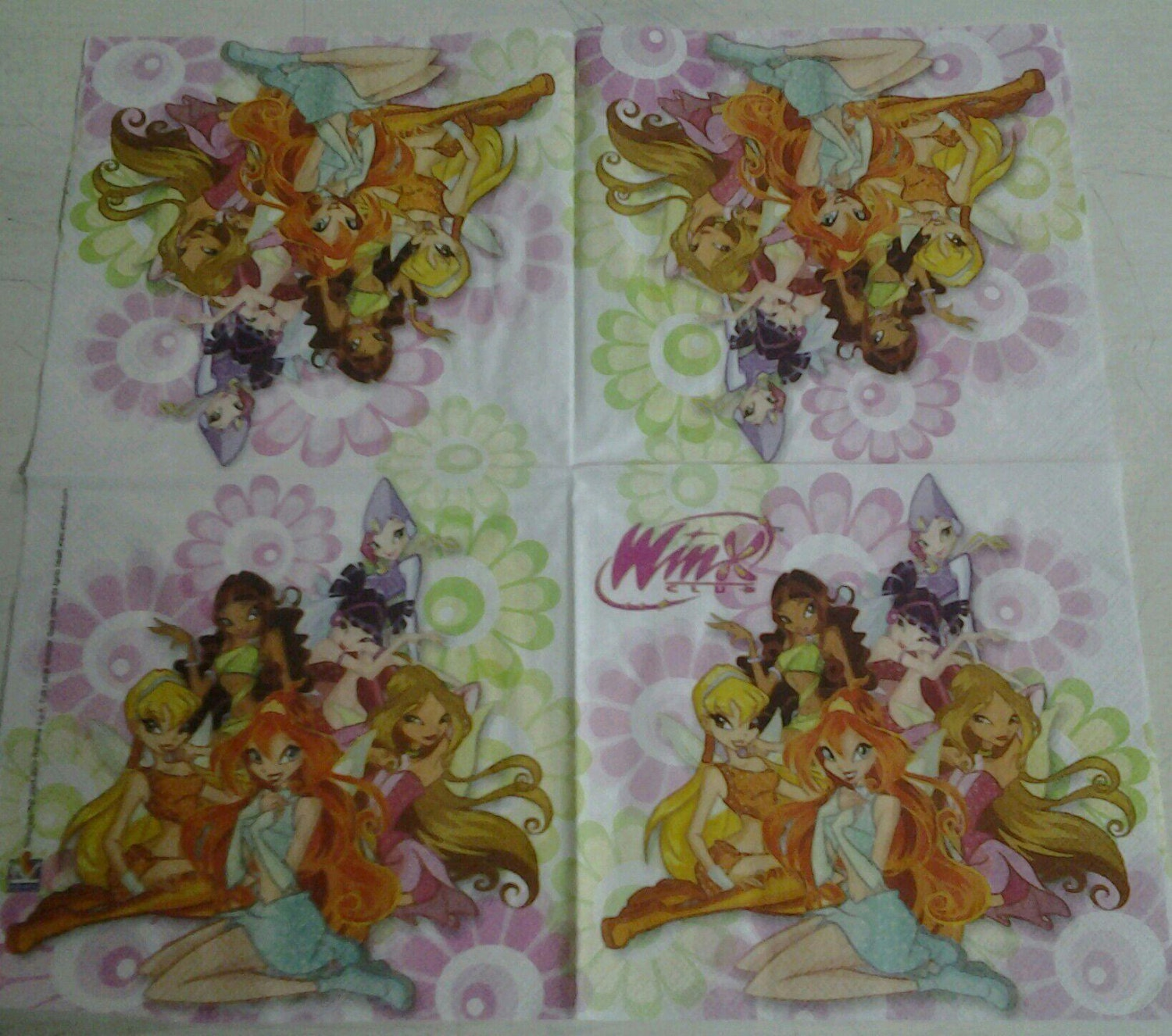 Decoupage Paper Napkins Winx And Fairy Disney Party