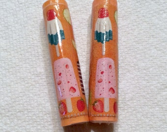 Popsicles Paper Beads Beads Artisan Handmade Beads for Pens and other Beadable Products