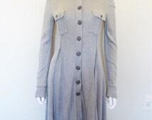 FREE PEOPLE Grey knit Sweater Dress - size small