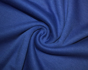 """Royal Blue Ponte Di Roma Double Knit Polyester Spandex Lycra Stretch Medium Weight Apparel Craft Fabric 58""""-60"""" Wide By The Yard"""