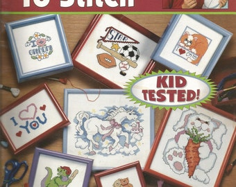 TEACH ME to STITCH..Learn to cross stitch with extra easy instructions and lots of how to photos by Linda Gillam..Kids have fun..