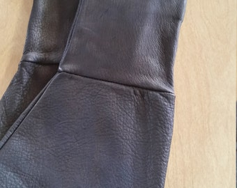 Leather gauntlet medieval, motorcycle gloves made in USA