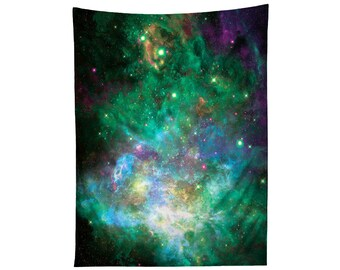 Space Artwork Tapestry Print - Galaxy Nebula Wall Hanging - Psychedelic Home Decor - Sublimation Prints