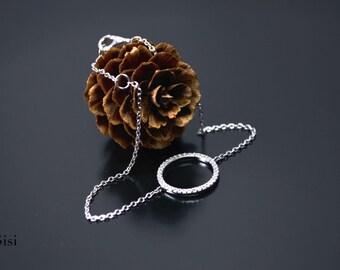 Bracelet silver zirconium ring