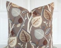 Brown Pillow Cover - Decorative Pillow  Earth Tones - 18x18, 20x20, 22x22, Lumbar - Brown, Beige, Khaki - Throw Pillow - Tree Limb Design