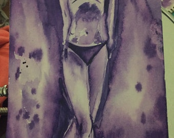 Watercolor Abstract Body