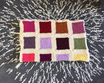 Crochet Rainbow Granny Square Afghan, Rainbow Crochet Blanket, Colorful Granny Square Afhgan