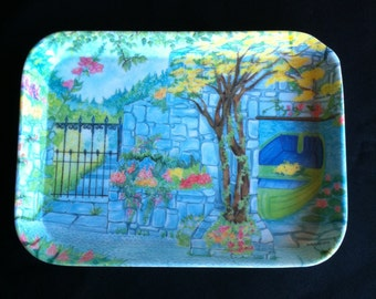 Small Melamine Tray Marked By R2S Made In Italy Monza