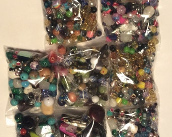Eight 4 oz bags of assorted beads ,lots of beads,bulk beads,craft,jewelry making,beads,