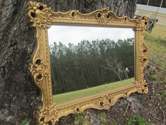 Shabby Chic Mirror Large Mirror Ornate Mirrorantique Gold