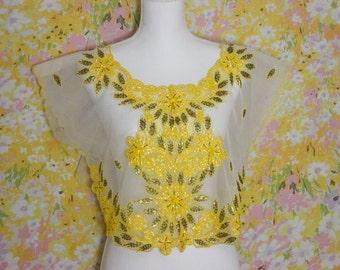 Golden Flower Over Shirt Tunic