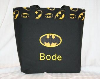 Personalized Batman Tote Bag