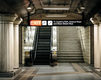 The interior of Museum Station, in the Discovery District, Toronto, Ontario. | Photo Print, Stretched Canvas, or Metal Print.