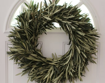 "Olive Branch Wreath- 20"" spring"
