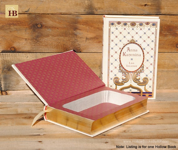 Book Safe - Anna Karenina - Leather Bound Hollow Book Safe