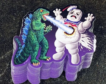 Godzilla stay puft Vinyl Sticker