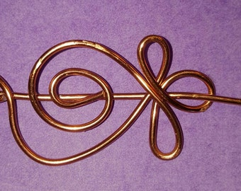 Simple floral design Copper Scarf/shawl/sweater pin