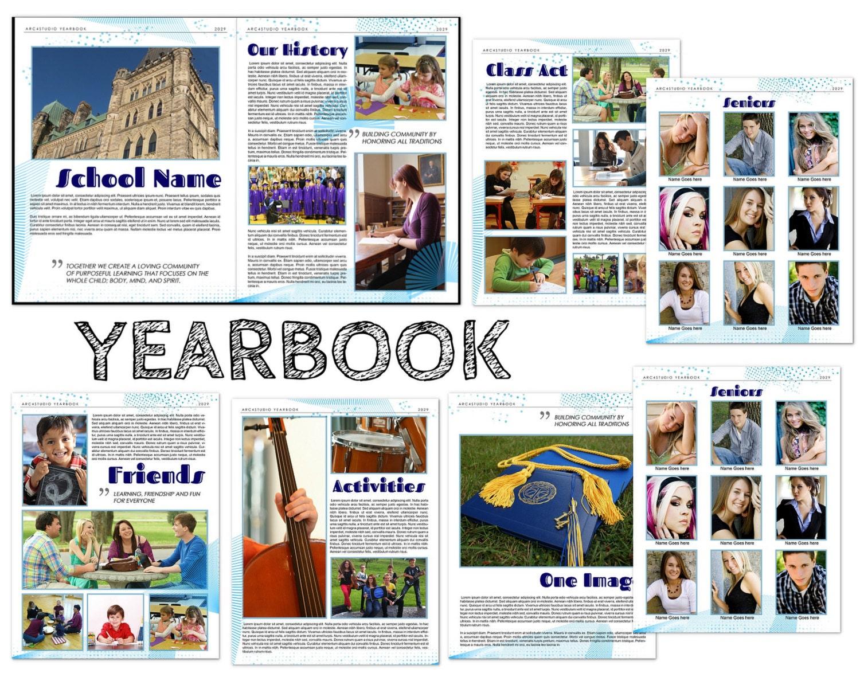 yearbook modern templates. Black Bedroom Furniture Sets. Home Design Ideas
