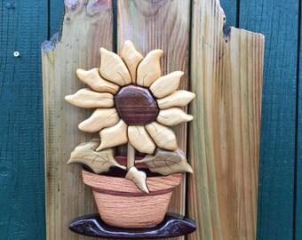 Sunflower, intarsia