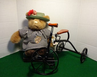Vintage All Metal Riveted Folk Art Decor Tricycle