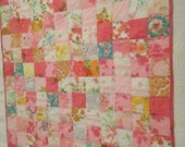 Custom for Margo. Quilt from nostalgic 60's & 7O's sheets perfect for Baby, stroller, wall hanging. Margo only please!
