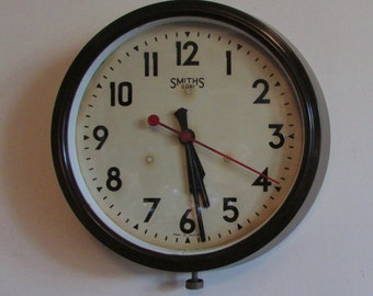 1920s Smiths 8 Day Vintage Electric Wall Clock