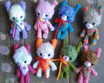 Miniature amigurumi bunny