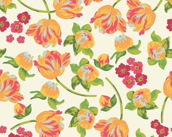 Extra 25% off 1 yard Floribella  by Emily Taylor  for Riley Blake Main Yellow