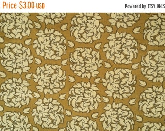 Extra 25% off 1/2 yard Fionas Fancy Fabric  by Lila Tueller for Riley Blake brown leaves