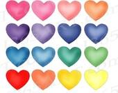 50% OFF SALE Hearts clipa...