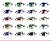 50% OFF SALE Eyes Clipart...