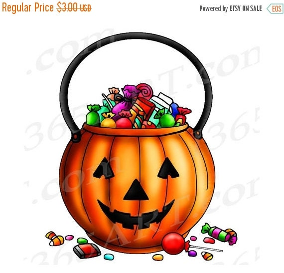 Trick Or Treat Candy Clipart 50% OFF SALE Ha...